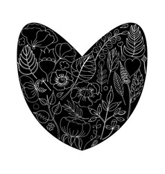 a floral frame in the shape vector image