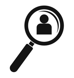 Admin magnify glass icon simple style vector