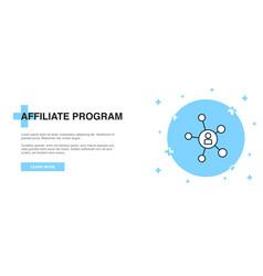 Affiliate program icon banner outline template vector