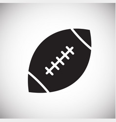 american football icon on white background for vector image
