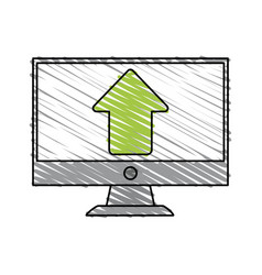 arrow computer monitor vector image