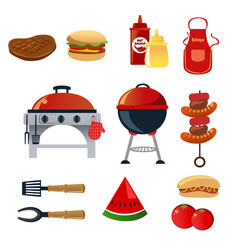 Barbeque icons vector