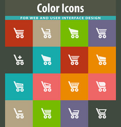 basket icons set vector image
