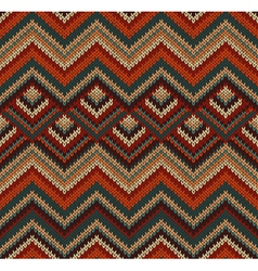Beautiful Knitted Fabric Pattern vector