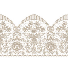 beige lace ribbon vector image