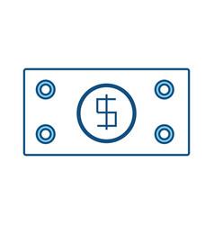 billet money symbol vector image