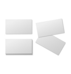 Blank business card empty white paper cards vector