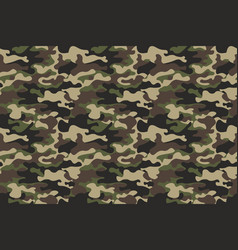 Camouflage seamless pattern background horizontal vector