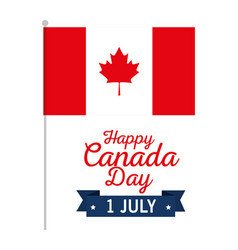 canadian flag celebration day vector image