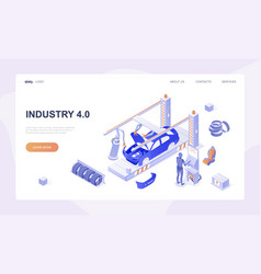 Car production industry vector