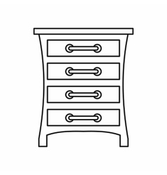 Chest of drawers icon outline style vector