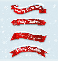 Christmas greeting card merry lettering vector
