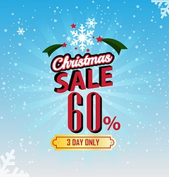 Christmas Sale 60 Percent typographic background vector image