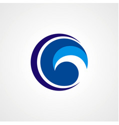 circle twist technology logo vector image