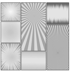 comic monochrome background vector image