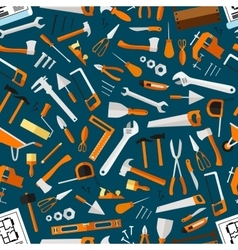 Construction and repair tools seamless wallpaper vector image