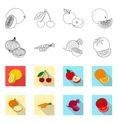 Design of vegetable and fruit logo vector