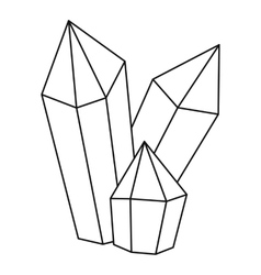 Diamonds icon outline style vector image