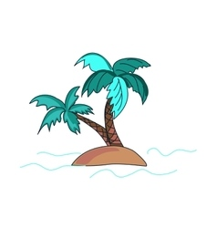doodle palms vector image