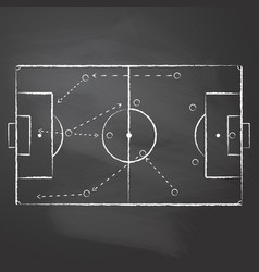 drawn with chalk the football pitch vector image