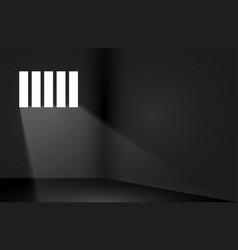 Dungeon prison window background jail cell empty vector