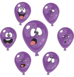 Emotion violet balloon set 005 vector image
