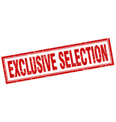 Exclusive selection vector