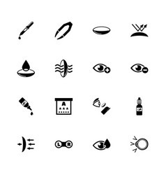 eye lens - flat icons vector image