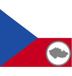 Flag and map czech republic vector
