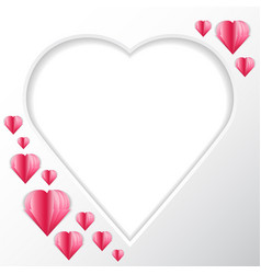 frame heart background in the form of heart for vector image