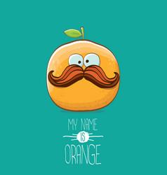 Funny cartoon cute orange character vector