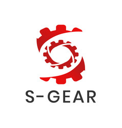 Gear logo with letter s concept for app or website vector