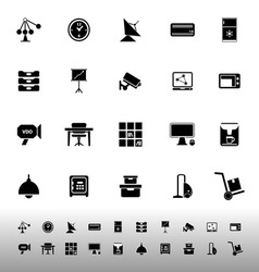 General office icons on white background vector