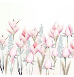 gentle pink crocus flowers spring vector image