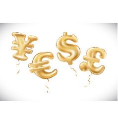 gold dollar euro yen pound sterling symbol vector image