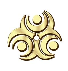 Gold teamwork logo vector
