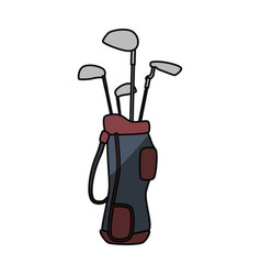 golf clubs in bag vector image