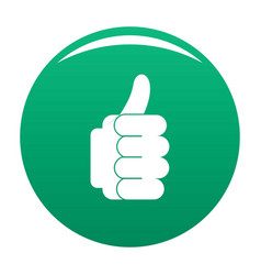 hand approval icon green vector image