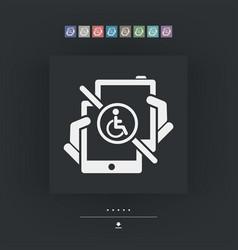 Handicap tablet connection vector
