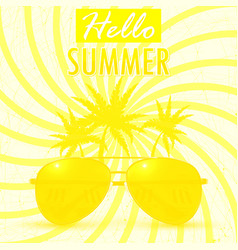 Hello summer summer background banner vector