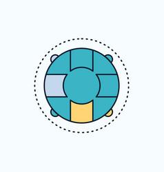 Help life lifebuoy lifesaver preserver flat icon vector