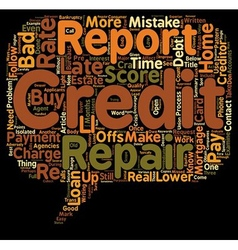 How to Repair Your Credit and Buy a Home text vector