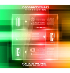 Infographic Layout with glass panels an high tech vector