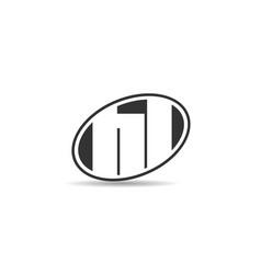 initial letter hl logo template design vector image