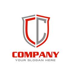 Letter cc logo design vector