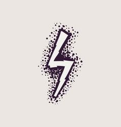 Letter s rune logo on dots background vector