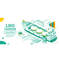 lng tanker isometric gas tanker commercial water vector image