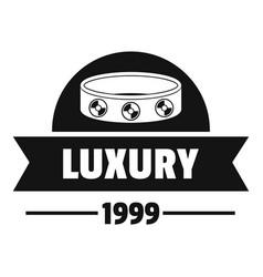 Luxury logo simple black style vector