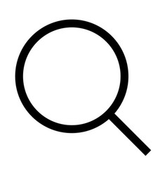 magnifying glass or loupe the black color icon vector image