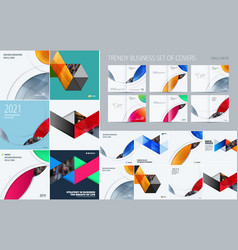 mega set of triangular abstract templates for vector image